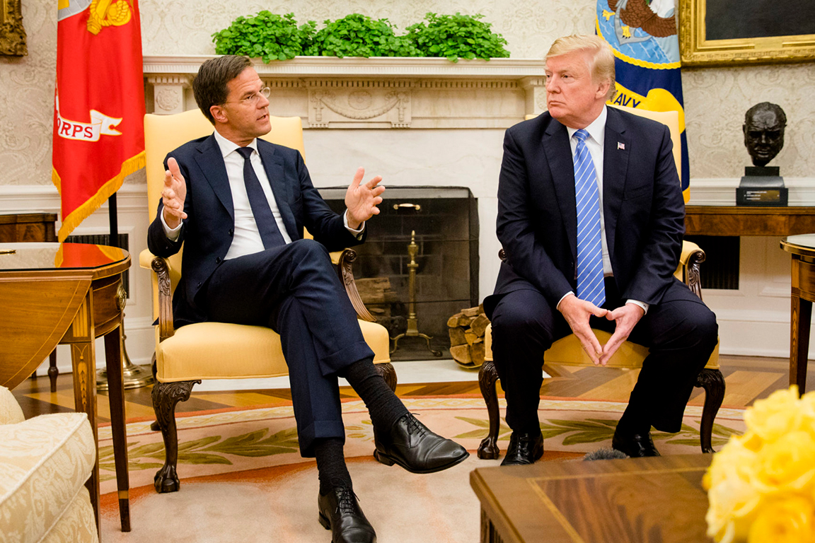 """荷兰首相当面对特朗普说""""不"""", 美国网友叫好!"""